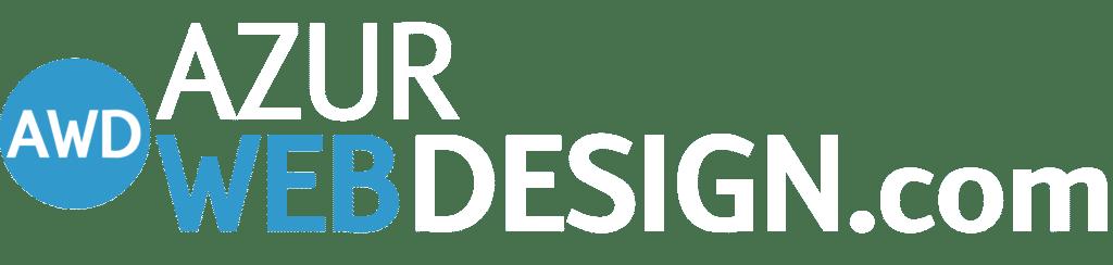 Logo azur web design blanc site
