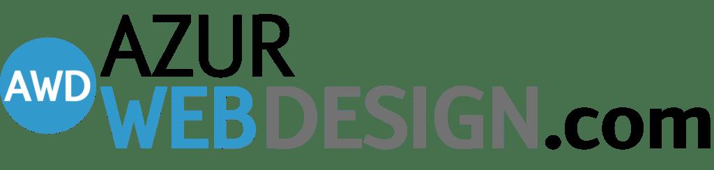 Logo azur web design noir