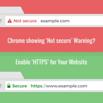 Les sites en HTTP identifiés comme « non-sécurisés » sur Chrome !
