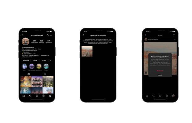 Comment récupérer des photos ou des stories supprimées sur Instagram ?